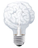Brain light bulb Stock Photos