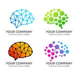 Brain logo design royalty free illustration
