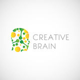 Brain Logo Design Stock creativo Fotografia Stock