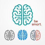 Brain logo set Stock Image