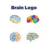 Brain Logo Template Images libres de droits