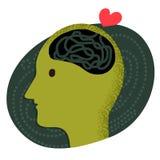 Brain of love Stock Photos