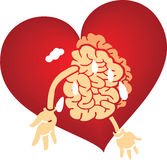 Brain love graphics red Stock Images