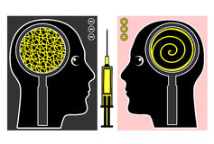 Brain Manipulation Royaltyfri Fotografi