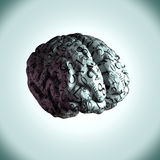 The brain of a mathematical genius, equations mapped to the brai Royalty Free Stock Image