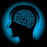 Brain maze. Abstract image symbolizing the human brain as a maze. Vector Royalty Free Stock Photo