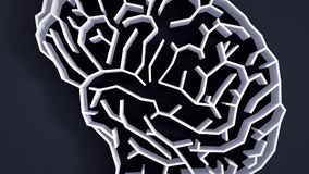 Brain maze animation high definition Stock Image