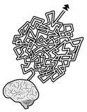 Brain maze Royalty Free Stock Photos