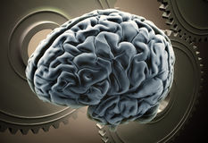 Brain mechanics Royalty Free Stock Image