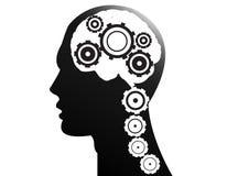 Brain. Mechanism of the brain with gears Stock Photos