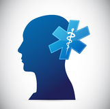 Brain. medical concept illustration Royalty Free Stock Images