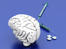 Brain Medication Royalty Free Stock Images