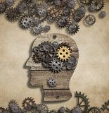 Brain mental activity and idea concept royalty free illustration