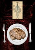 Brain menu Royalty Free Stock Photography