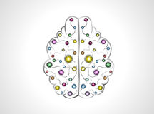 Brain molecules Royalty Free Stock Photography