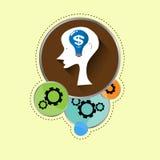 Brain money idea. EPS 10 VECTOR Stock Images