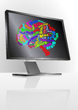 Brain monitor Royalty Free Stock Photos