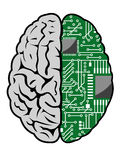 Brain and motherboard royalty free illustration