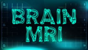 Brain mri Banner Vector. Medical Background. Transparent Roentgen X-Ray Text With Bones. Radiology 3D Scan. Medical. Health Typography. Futuristic Illustration royalty free illustration