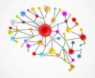 Brain Network Royalty-vrije Stock Afbeeldingen