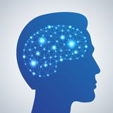 Brain network icon Royalty Free Stock Photo