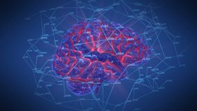 Brain Network Rotation stock de ilustración
