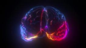 brain neuron impulses process of thinking 4k