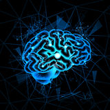 Brain Neurons Activity, insegna di pensiero di concetto di intelligenza della medicina illustrazione vettoriale