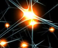 Brain neurons synapse functions Stock Photo