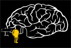 Brain with a new idea Royalty Free Stock Image