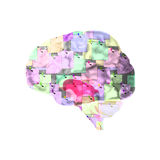 Brain With Notes to Help Memory Stock Images