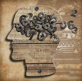 Brain and numbers Royalty Free Stock Photography