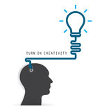 Brain opening concept.Creative brain abstract vector logo design Royalty Free Stock Image