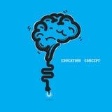 Brain opening concept.Creative brain abstract vector logo design Stock Photos