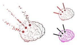 Brain Operation Icon tramé pointillé dispersé illustration de vecteur