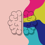 Brain organ and creativity concept design. Brain icon. Human organ mind and creativity theme. Colorful design. Vector illustration Stock Photography