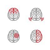Brain Pain Icon Foto de archivo