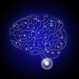 Brain. Paiute thinking machine of the future Royalty Free Stock Image