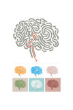 Brain pattern with a maize Royalty Free Stock Images