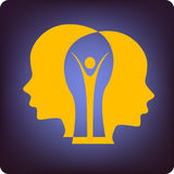 Brain people royalty free illustration