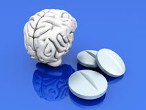 Brain Pills Royalty Free Stock Photo