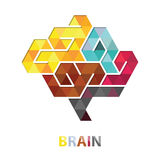 Brain Polygon Abstract Vector Immagine Stock
