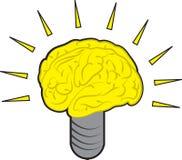Brain Power. Light bulb illustration Stock Photo