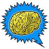Brain Power. Cartoon illustration of a Brain with a Power bolt Royalty Free Stock Photos