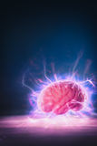 Brain power concept with abstract light rays Royalty Free Stock Photos
