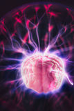 Brain power concept with abstract light rays Stock Photography