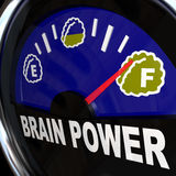 Brain Power Gauge Measures Creativity Intelligence Royalty Free Stock Photos