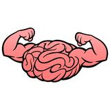 Brain Power Icon. A vector illustration of a Brain with muscles vector illustration