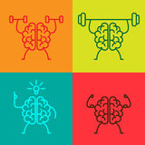 Brain power icons Royalty Free Stock Image
