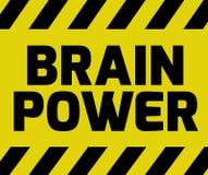 Brain Power tecken Arkivfoto